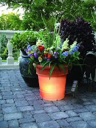 Backyard Gift Ideas Solar Garden Planter Outdoor Patio Ideas
