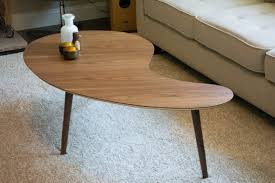 kidney bean shaped table mid century modern coffee table kidney bean shaped extra large