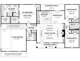 1 story open floor plans country style house plans 1654 square foot home 1 story 3
