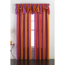 Purple Window Valances Chf Rainbow Ombre Tailored Curtain Panel Pair With Optional