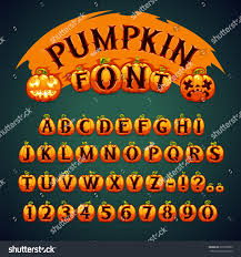 halloween pumpkin font eps file each stock vector 220703923
