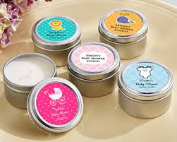candle baby shower favors personalized candle tin for baby showers favors by kate aspen