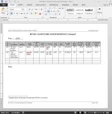 advertising review worksheet template
