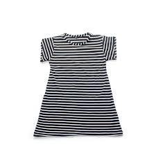 dress anak jual dress anak murah salur bergaris hitam pendek bajuyuli