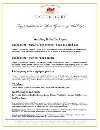 Wedding Packages Wedding Packages Entertaining U0026 Catering Oregon Dairy