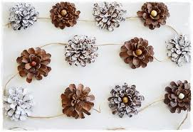 two shades of pink pine cone flower garland