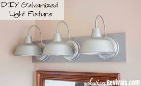 Bathroom Bar Lighting Fixtures Bathroom Lights Diy Galvanized Gooseneck Vanity Light