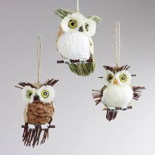 Owl Decorations by Christmas Owl Christmas Decorations Decoration Ornament White