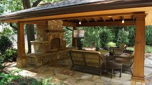 furniture simply outdoor living space with bbq grill and wooden