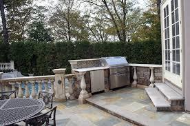 outdoor granite precast bbq grill design installation company