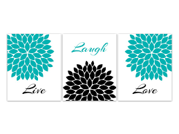 home decor wall art live laugh love canvas turquoise wall