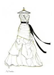 dreamlines weddin dress sketch and personalized hanger http www