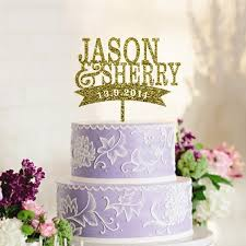 wedding cake name aliexpress buy personalized cake topper custom name and date