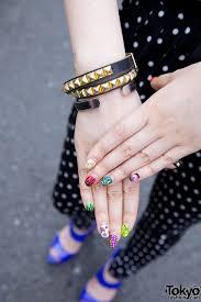 tokyo u0027s lavender hair tattoos colorful nail art u0026 superman top
