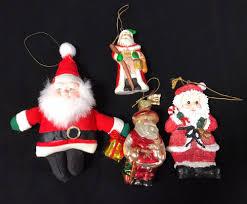 vintage santa claus ornaments mixed lot of 4 collectibles