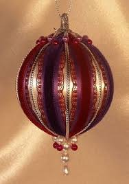 Victorian Christmas Ornaments - handmade old world victorian heirloom beaded christmas ornaments