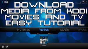 download movies and tv shows from kodi easy tutorial save