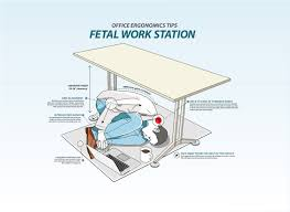 more office workers switching to fetal position desks youtube
