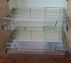 panier coulissant pour meuble de cuisine tiroir et panier coulissant aménagement cuisine cuisines bellissima