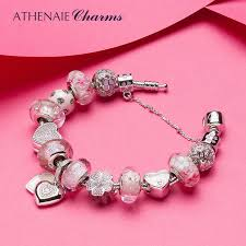 murano beads bracelet images Athenaie 925 silver flower heart charms beloved mother pendent jpg