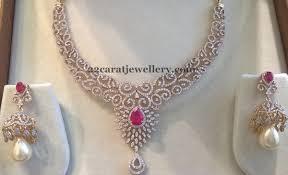 diamond set 4 lakhs diamond set by mahalaxmi jewellers jewellery designs