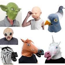 halloween mask horse head gigeon head crying baby unicorn