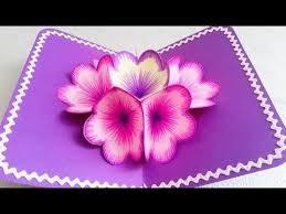 download video diy 3d flower pop up card 3d flower and youtube