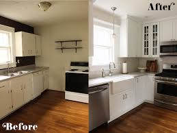 Ideas For Kitchens Remodeling by Remodelaholic Small White Kitchen Makeover With Built In Fridge