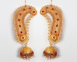 temple design gold earrings indian 22k gold shopping traditional ear rings jukas