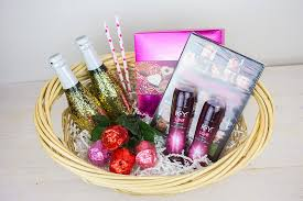 date gift basket ideas diy glitter chagne bottles and a s date in a basket