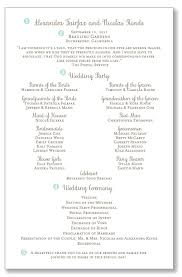 bling wedding programs one page wedding ceremony programs pretty header with your names