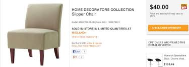 hd home decorator collections chair desk clearance prices stocks