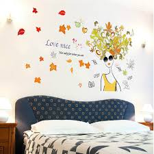 flower colorful butterfly pvc decal wall sticker for