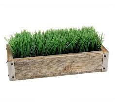 handmade reclaimed barnwood planter box with decorative ornamental