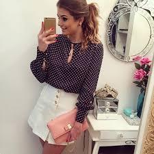 open blouse sleeve slit open blouse chiffon hollow casual