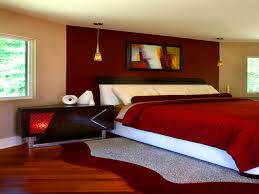 Red Bedroom Accent Wall - brown bedroom with red accents bedroom design ideas