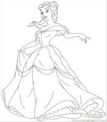 ncess coloring pages belle 05 coloring free disney princess