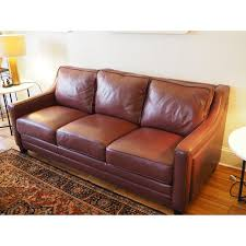 Leather Brown Sofas Domain Furniture Brown Brick Leather Sofa Aptdeco