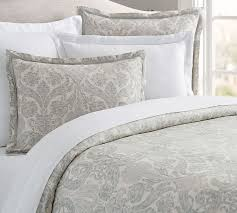 samantha damask sateen duvet cover u0026 sham pottery barn