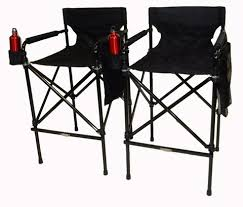 Tall Director Chairs World Outdoor Products Two Pack Original Black Beauty Telescopic