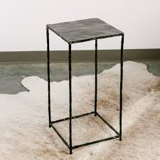 Iron Side Table Geocometti Square Iron Side Table