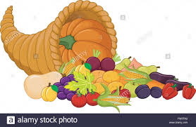 harvest cornucopia harvest cornucopia stock vector illustration vector image