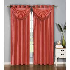 Red Scarf Valance Orange Window Scarves U0026 Valances Window Treatments The Home