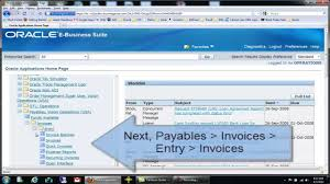how to do manual invoice entry in oracle accounts payable oracle