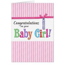 baby girl cards congratulations on your new baby girl card zazzle
