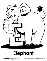 e is for elephant coloring page e is for elephant coloring page