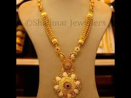 gold pendant long necklace images Long chain gold necklace designs latest indian jewellery jpg