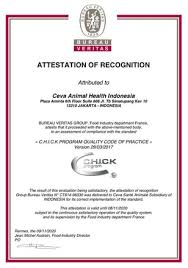 bureau veritas indonesia ceva indonesia officially get its attestation of recognition for