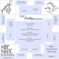 cootie catcher wedding program template place setting printable wedding program menu favor cootie