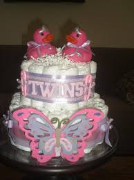 Diaper Cake Decorations For Baby Shower Best 25 Twin Diaper Cake Ideas On Pinterest Diaper Cakes Baby